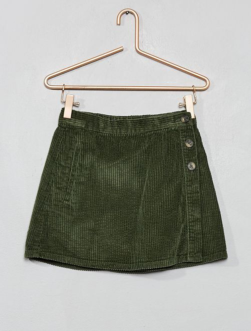 Falda de pana                                                                 verde tomillo