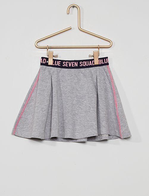 Falda de punto                             gris