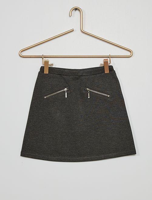 Falda de punto milano                                                                                         GRIS