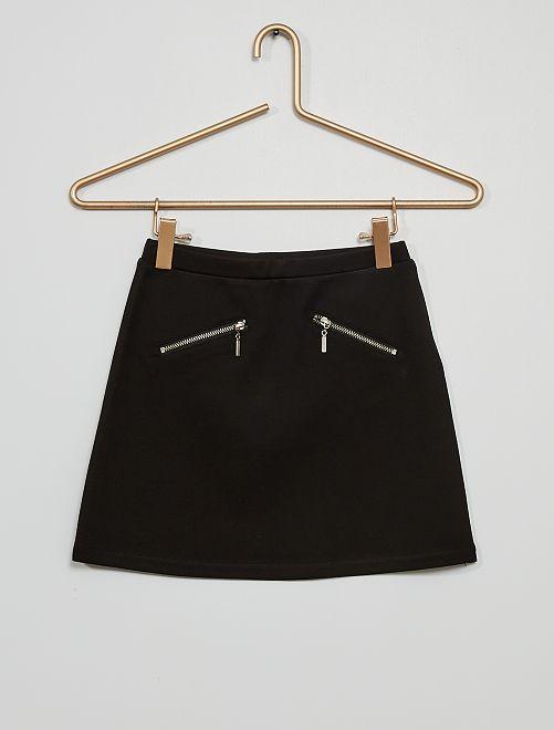 Falda de punto milano                                                                                         negro