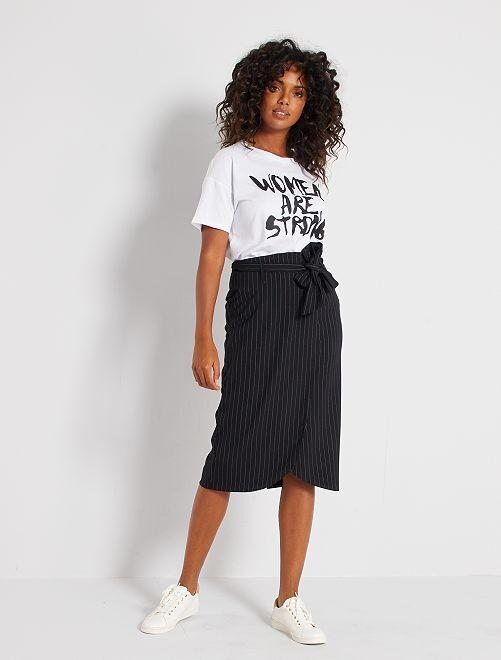 Falda de tubo a rayas                             a rayas