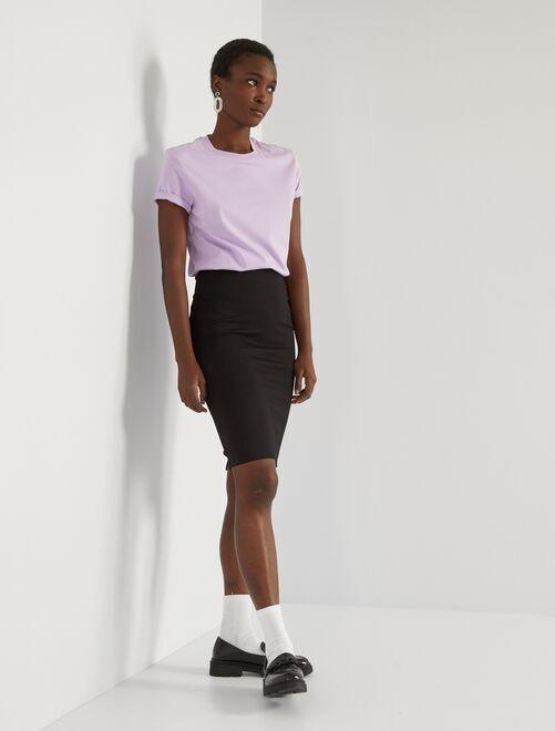Falda de tubo de punto milano                             negro