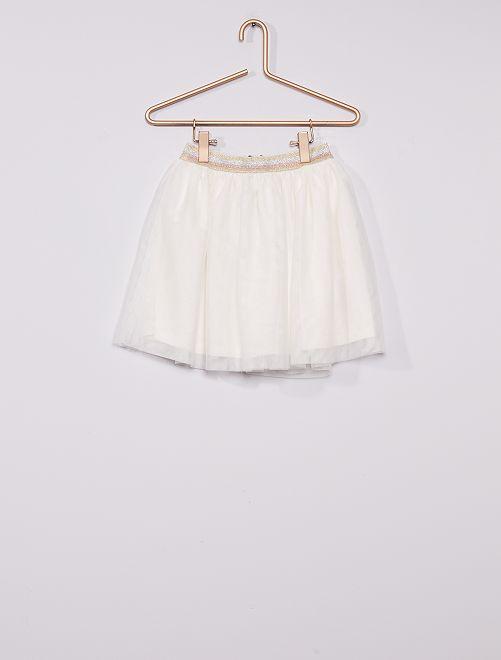 Falda de tul                                         blanco nieve