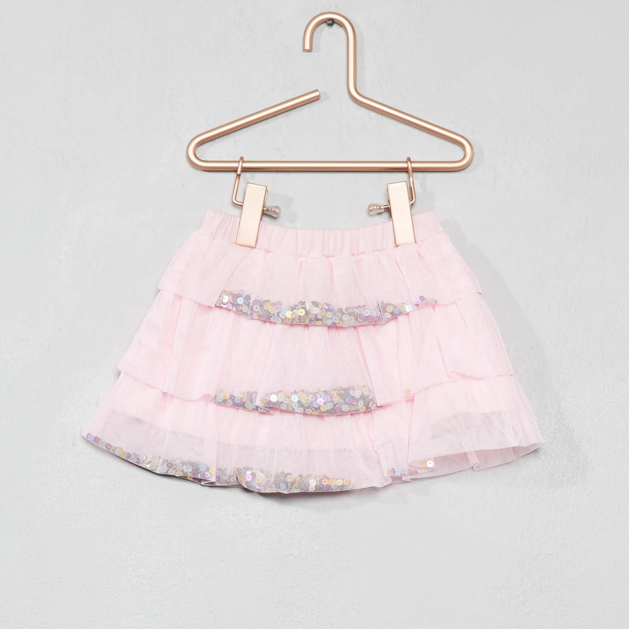 f8cb38346 Falda de tul con lentejuelas Bebé niña - ROSA - Kiabi - 5,00€