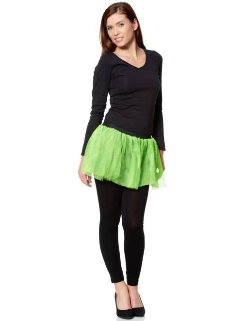 Falda estilo tutú                             verde flúor Mujer