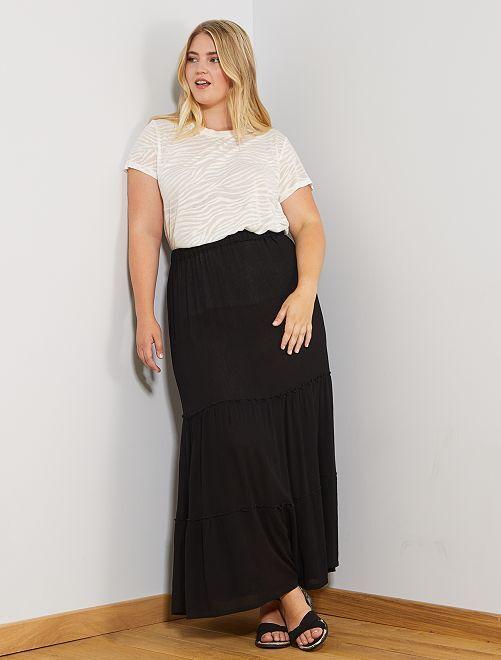Falda larga con capas                             negro