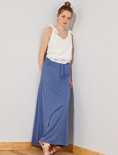 12c4a582 Falda larga de punto elástico Mujer talla 34 a 48 - Kiabi - 12,00€