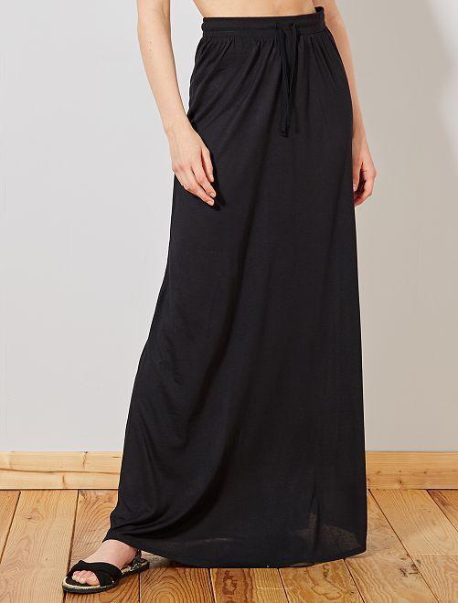 6a2115ba Falda larga de punto elástico Mujer talla 34 a 48 - negro - Kiabi ...