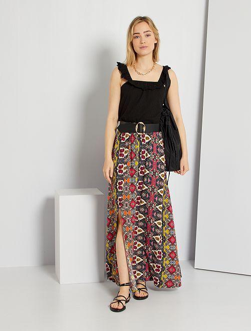Falda larga estampada 'JDY'                                         BEIGE