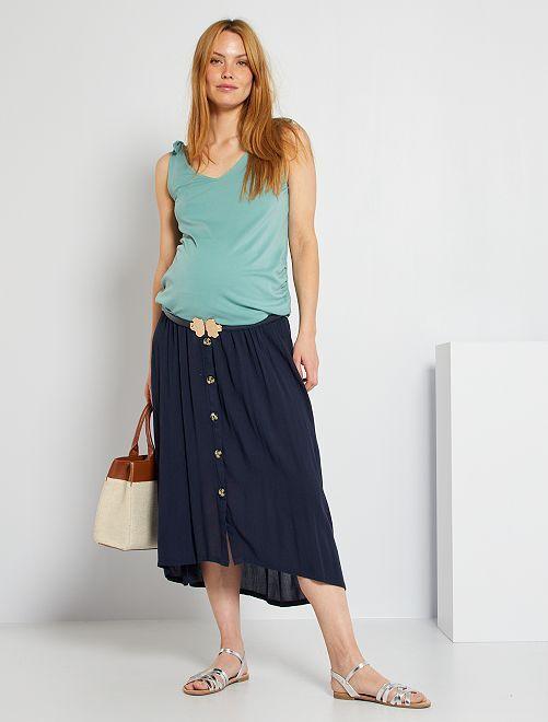 Falda larga premamá                                                                 azul