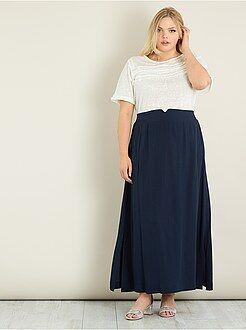 Faldas - Falda larga vaporosa con aberturas - Kiabi