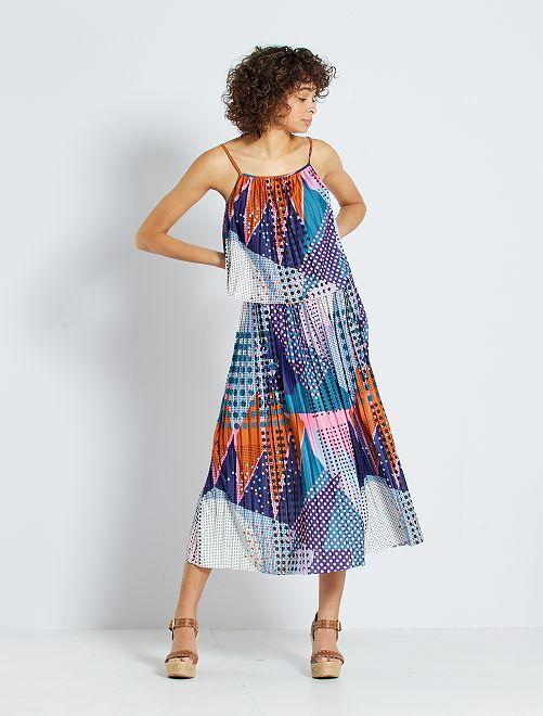 Falda midi plisada 'JDY'                             multicolor