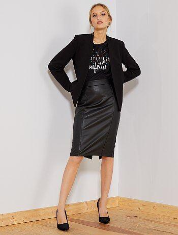 Falda midi sintética - Kiabi