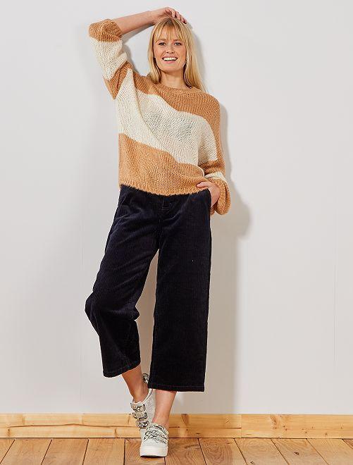 Falda pantalón de pana                                         AZUL