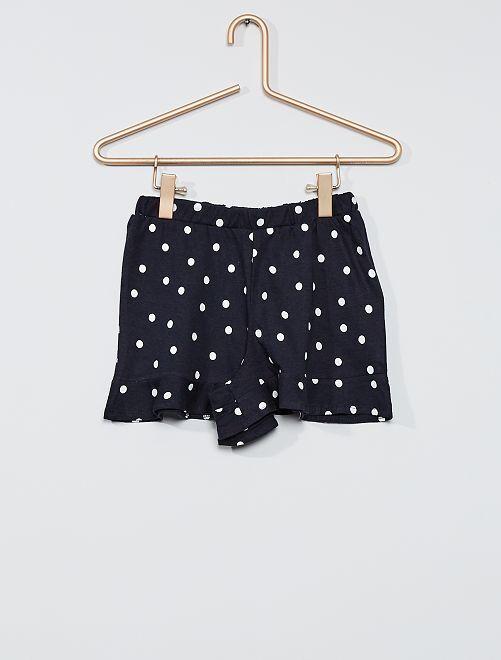 Falda pantalón estampada                                                                 AZUL