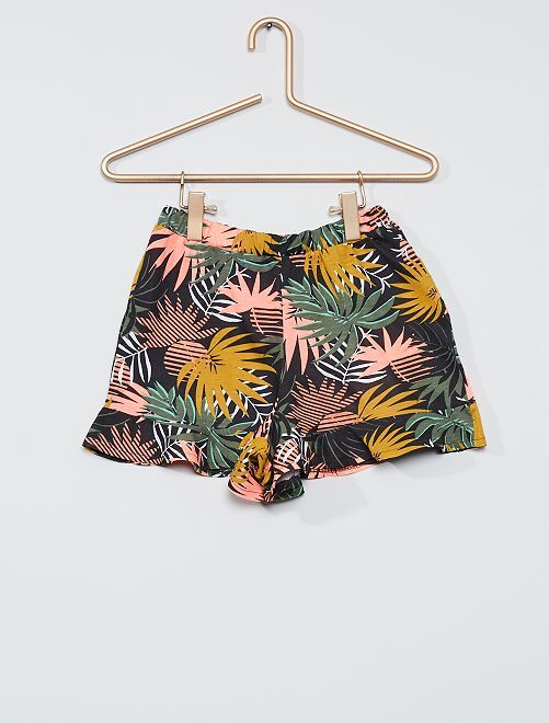 Falda pantalón estampada                                                                 GRIS