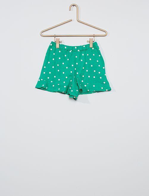Falda pantalón estampada                                                                 VERDE