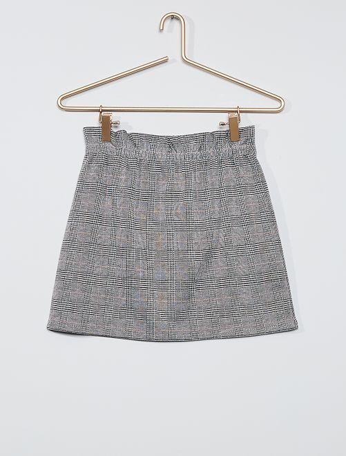 Falda paperbag de punto                             gris