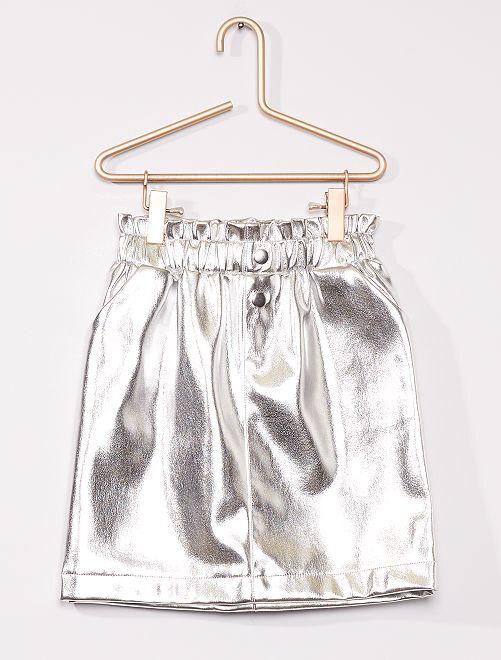 Falda plateada                                         plata