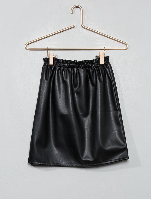 Falda sintética                             negro