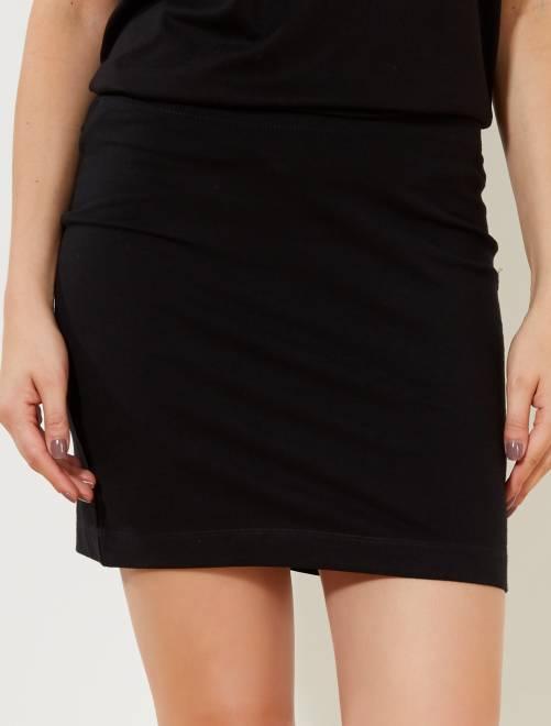 Falda tubo stretch                                          negro Mujer talla 34 a 48