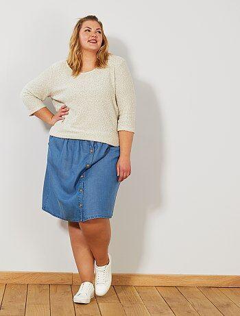 c90b5bd21 Faldas Tallas grandes mujer | azul | Kiabi
