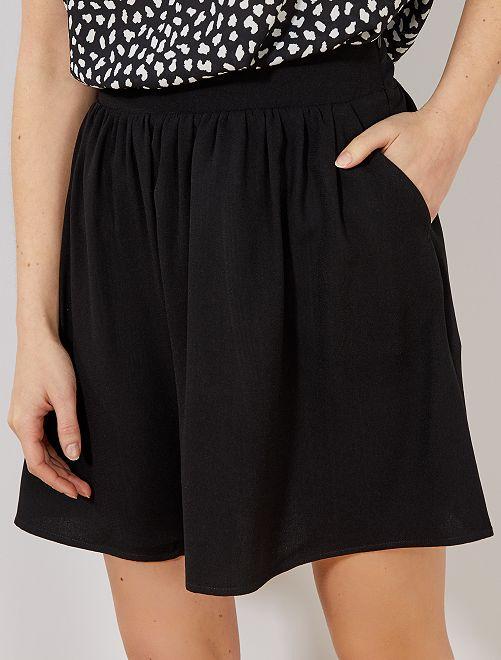 Falda vaporosa estampada                                         negro Mujer talla 34 a 48