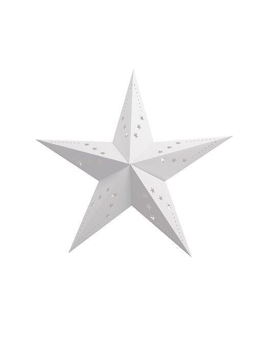 Farolillo de estrella 30 cm                                                                 blanco