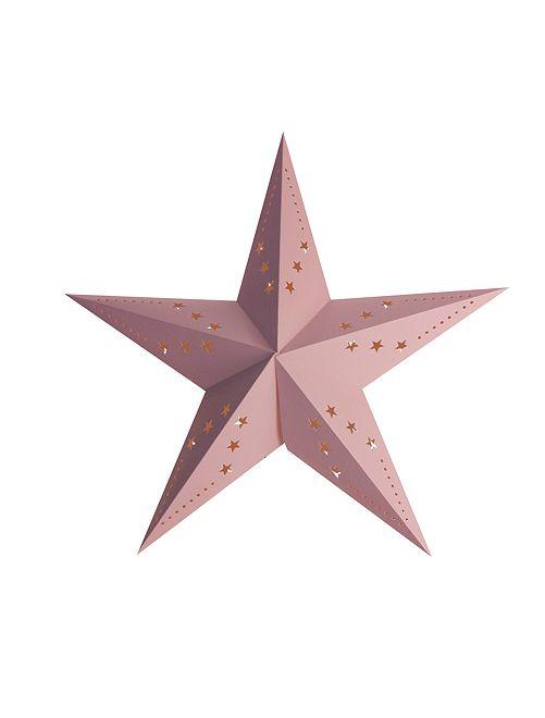 Farolillo de estrella 30 cm                                                                 rosa claro