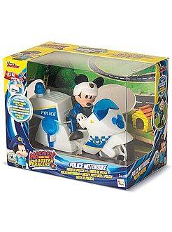 Figurita de 'Mickey' con moto de policía