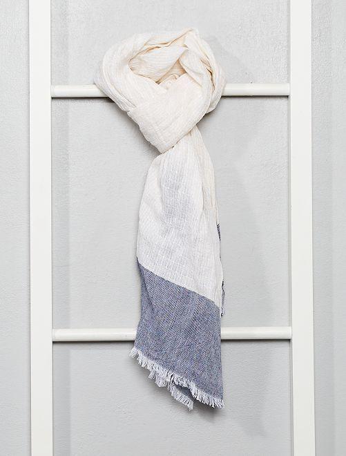 Fular de algodón                             azul