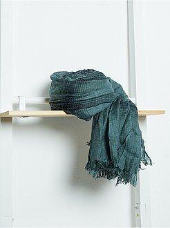 Echarpe, bufandas, pañuelos - Fular de viscosa de cuadros