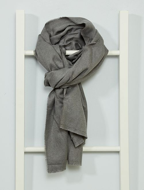 Fular suave calidez media                                                                 gris