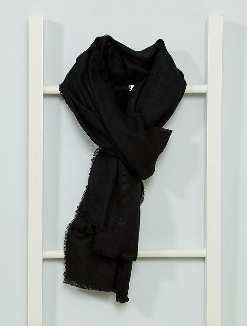 Fular suave calidez media                                                                 negro