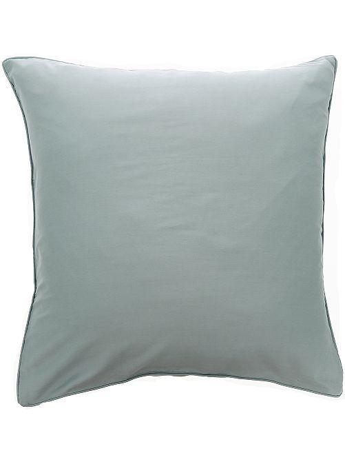 Funda de almohada de raso de algodón                                                                                         GRIS