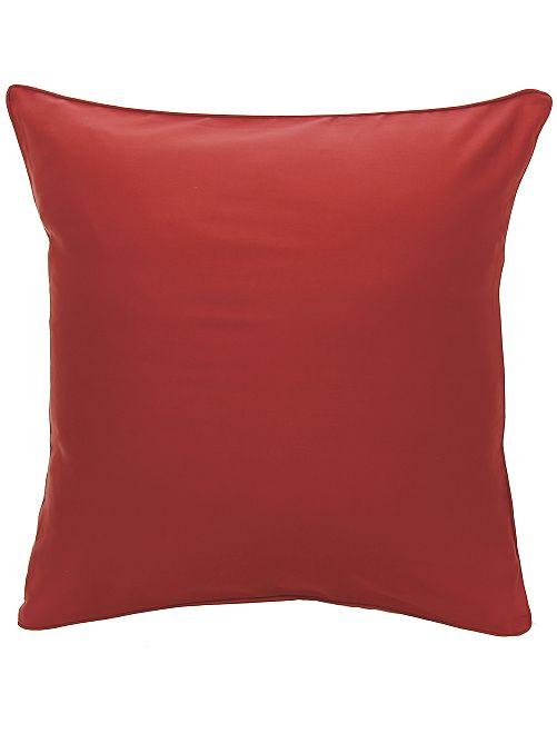 Funda de almohada de raso de algodón                                                                                         ROJO
