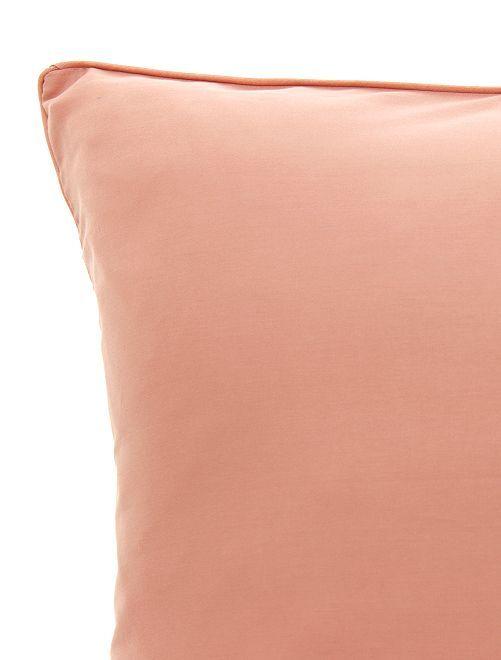 Funda de almohada de raso de algodón                                                                                         ROSA