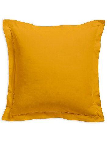 Funda de almohada lisa 100 % algodón - Kiabi