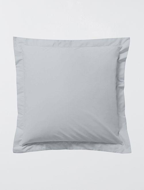 Funda de almohada lisa con volante plano                                                                 GRIS