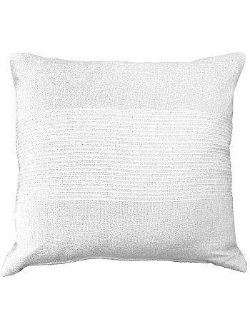 Funda de cojín bordada de algodón - Kiabi