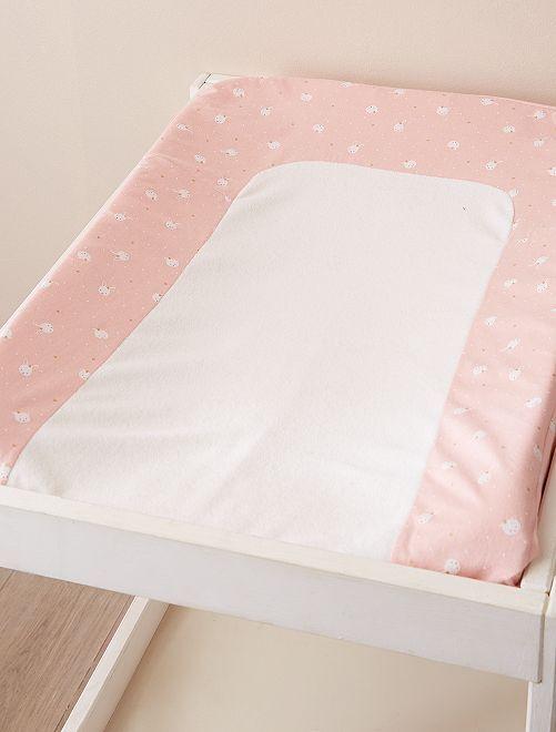 Funda de colchón cambiador 'gato'                             ROSA