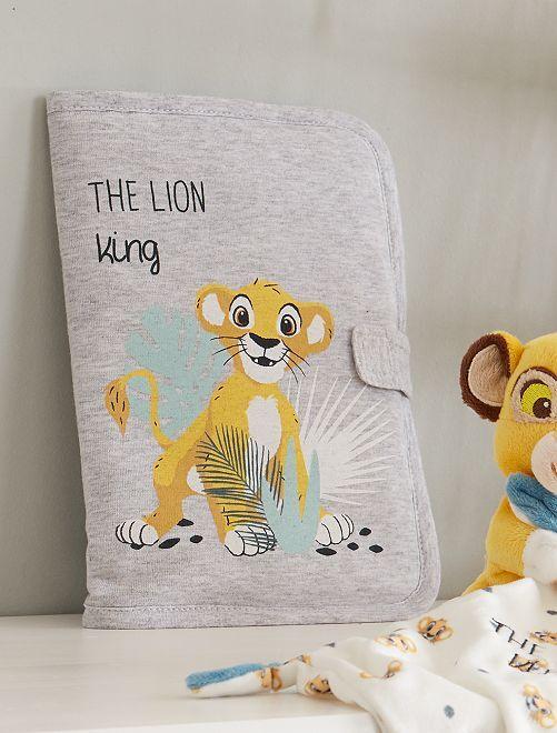 Funda para cartilla sanitaria 'El rey león'                             GRIS Bebé niño