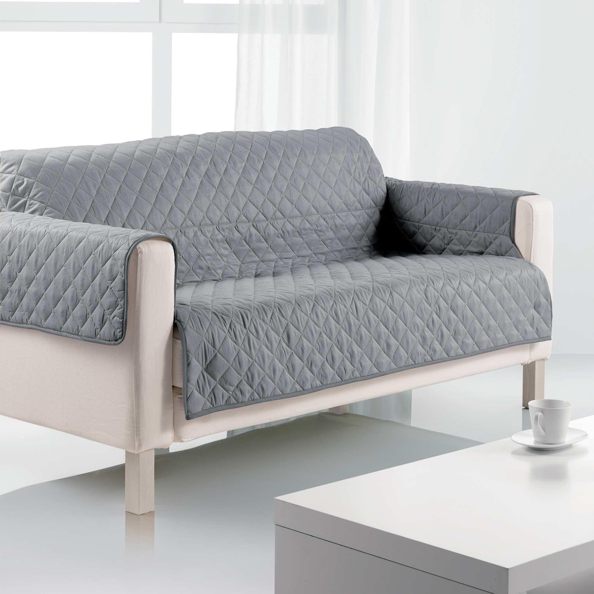 Funda para sof 3 plazas hogar gris kiabi 20 00 for Sofas de 3 plazas