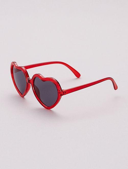 Gafas de sol con forma de corazón                             ROSA