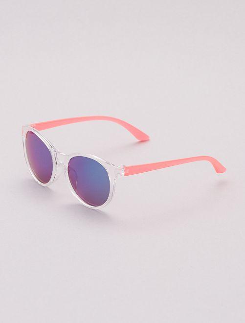 Gafas de sol de efecto espejo                             BEIGE