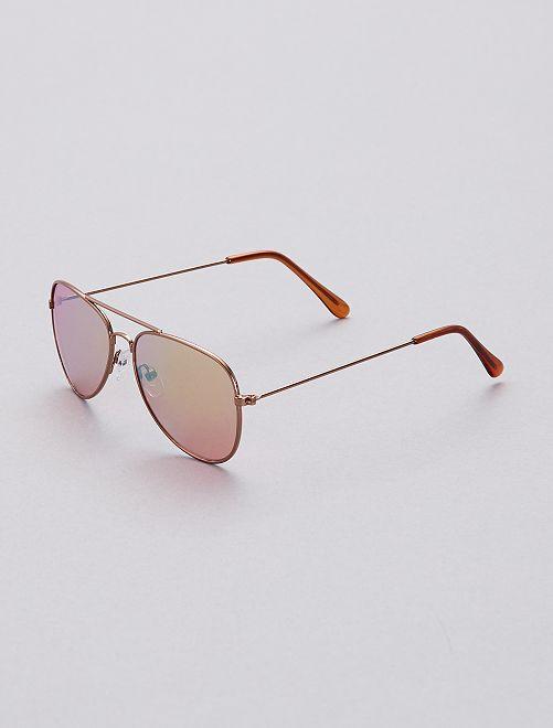 Gafas de sol tipo aviador                             oro Chica