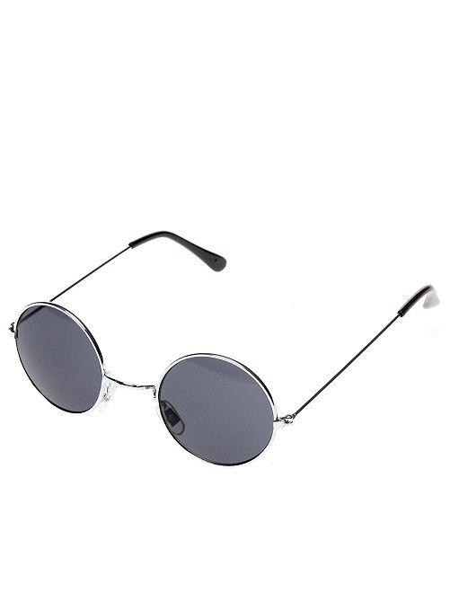 Gafas redondas de hippie                                                                                         negro Accesorios