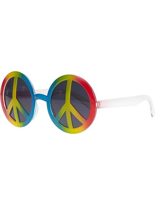 Gafas redondas de plástico 'peace and love'                             multicolor