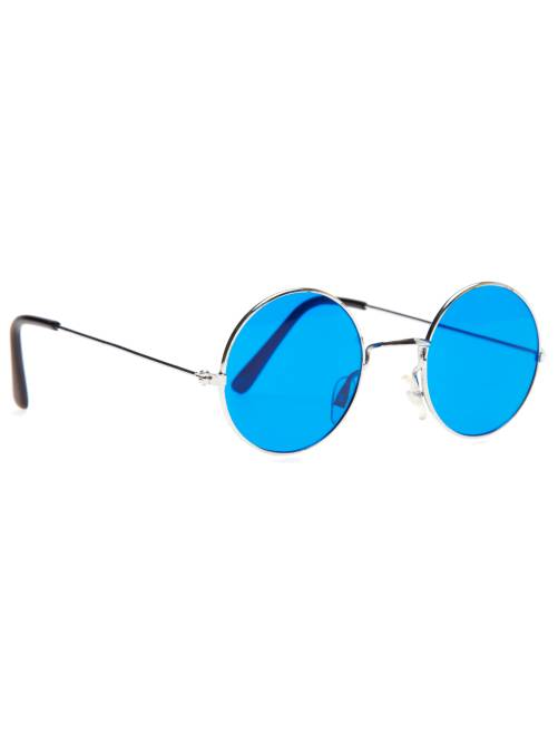 Gafas redondas disfraz de hippie                                                                                         azul