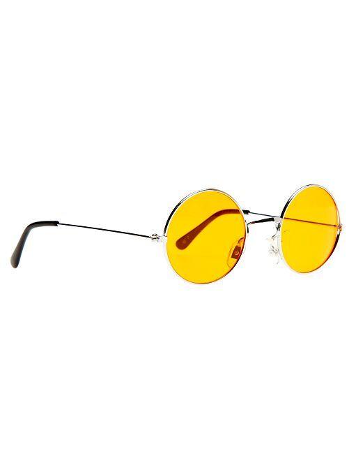 Gafas redondas disfraz de hippie                                                                                         naranja